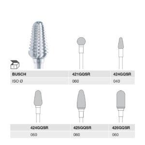 421GQSR 060 HP, 424GQSR 040 HP, 424GQSR 060 HP, 425GQSR 060 HP, 426GQSR 060 HP CARBIDE CUTTER GQSR-CUT