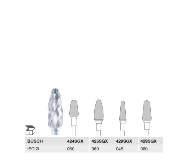 424SGX 060 HP, 425SGX 060 HP, 429SGX 045 HP, 429SGX 060 HP CARBIDE CUTTER VERY COARSE X-CUT