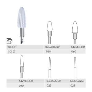 K424GQSR 060 HP, K425GQSR 060 HP, K429GQSR 040 HP, K432GQSR 023 HP, K433GQSR 023 HP CERAMIC CUTTER COARSE STRAIGHT CUT