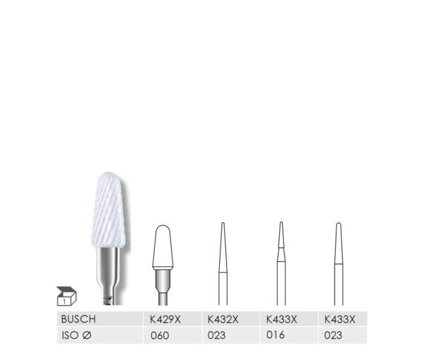 K429X 060 HP, K432X 023 HP, K433X 016 HP, K433X 023 HP CERAMIC CUTTER X-CUT