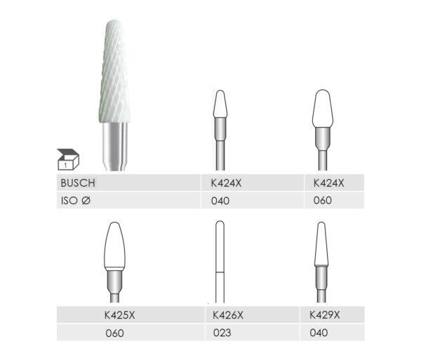 K424X 040 л.с., K424X 060 л.с., K425X 060 л.с., K426X 023 л.с., K429X 040 л.с. КЕРАМИЧЕСКИЙ РЕЗАК X-CUT