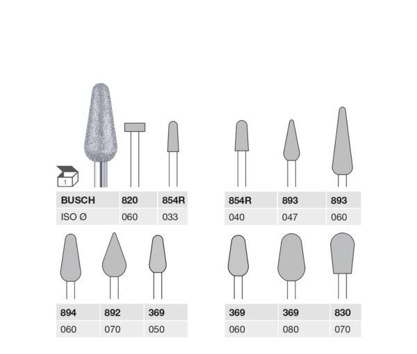 820 060 HP, 854R 033 HP, 854R 040 HP, 893 047 HP, 893 060 HP, 894 060 HP, 892 070 HP, 369 050 HP, 369 060 HP, 369 080 HP, 830 070 HP DIAMOND CUTTER MEDIUM GRIT