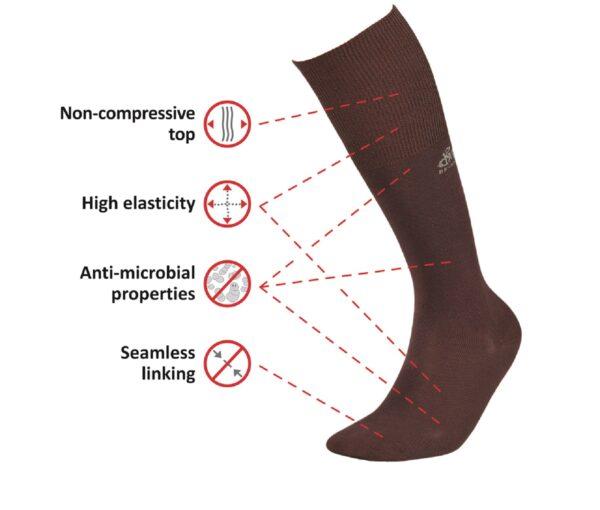 DeoMed Bamboo Long medical socks