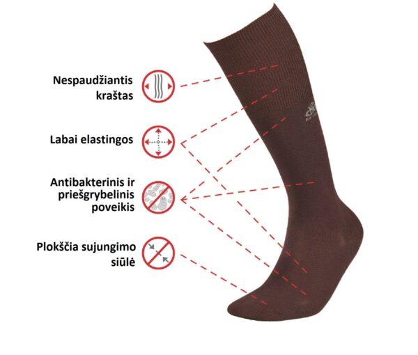 DeoMed Bamboo Lange medizinische Socken