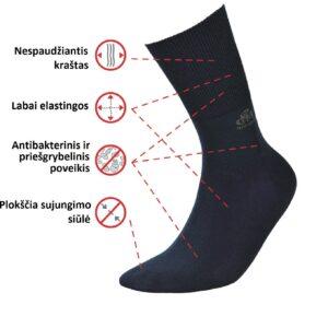 DeoMed Bamboo medical socks