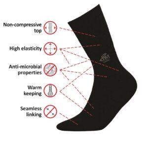 DeoMed Wool medizinische Socken