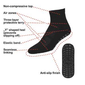 Rutschfeste Socken im Fitnessstudio