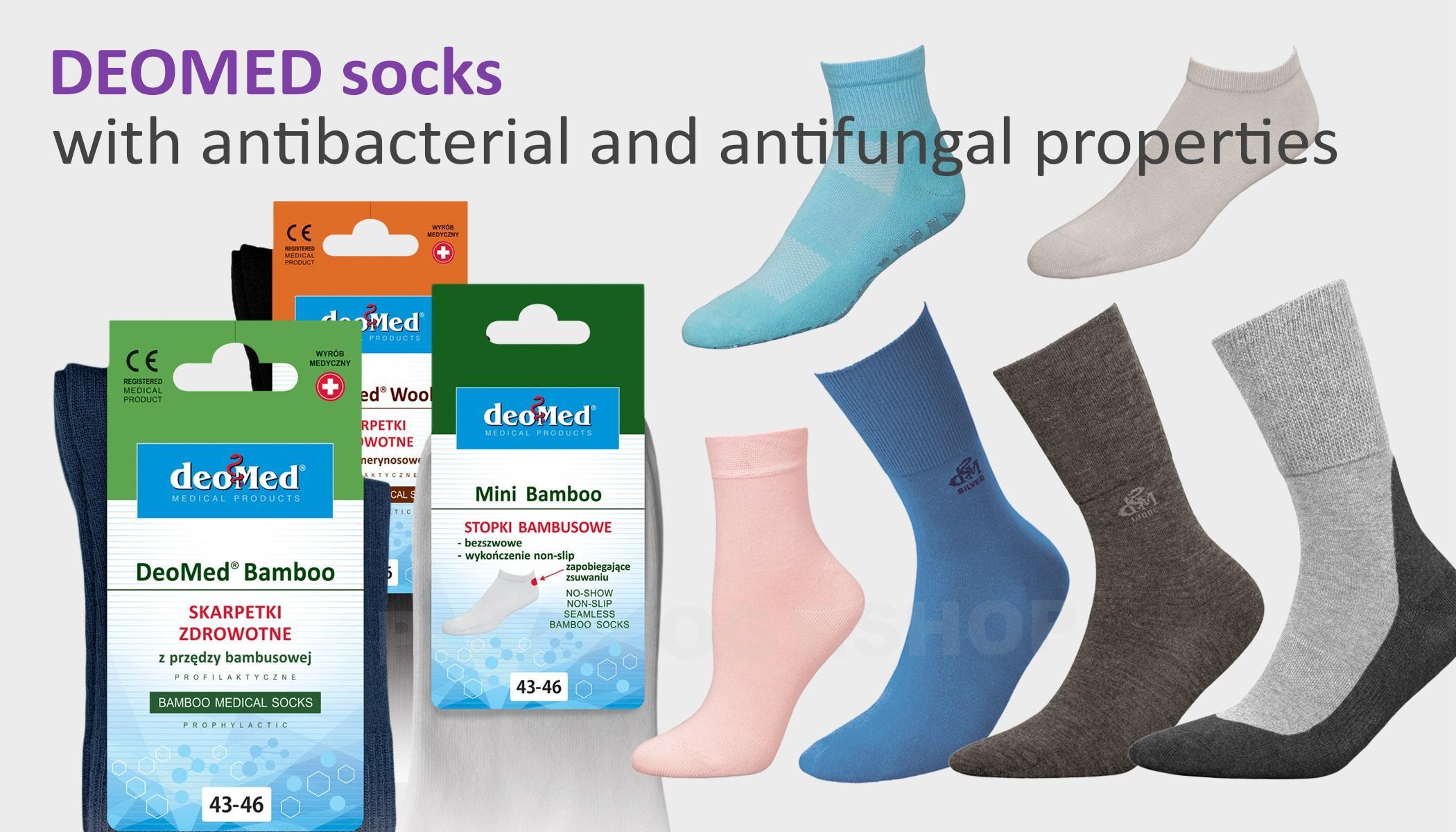 socks with antibacterial and antifungal properties